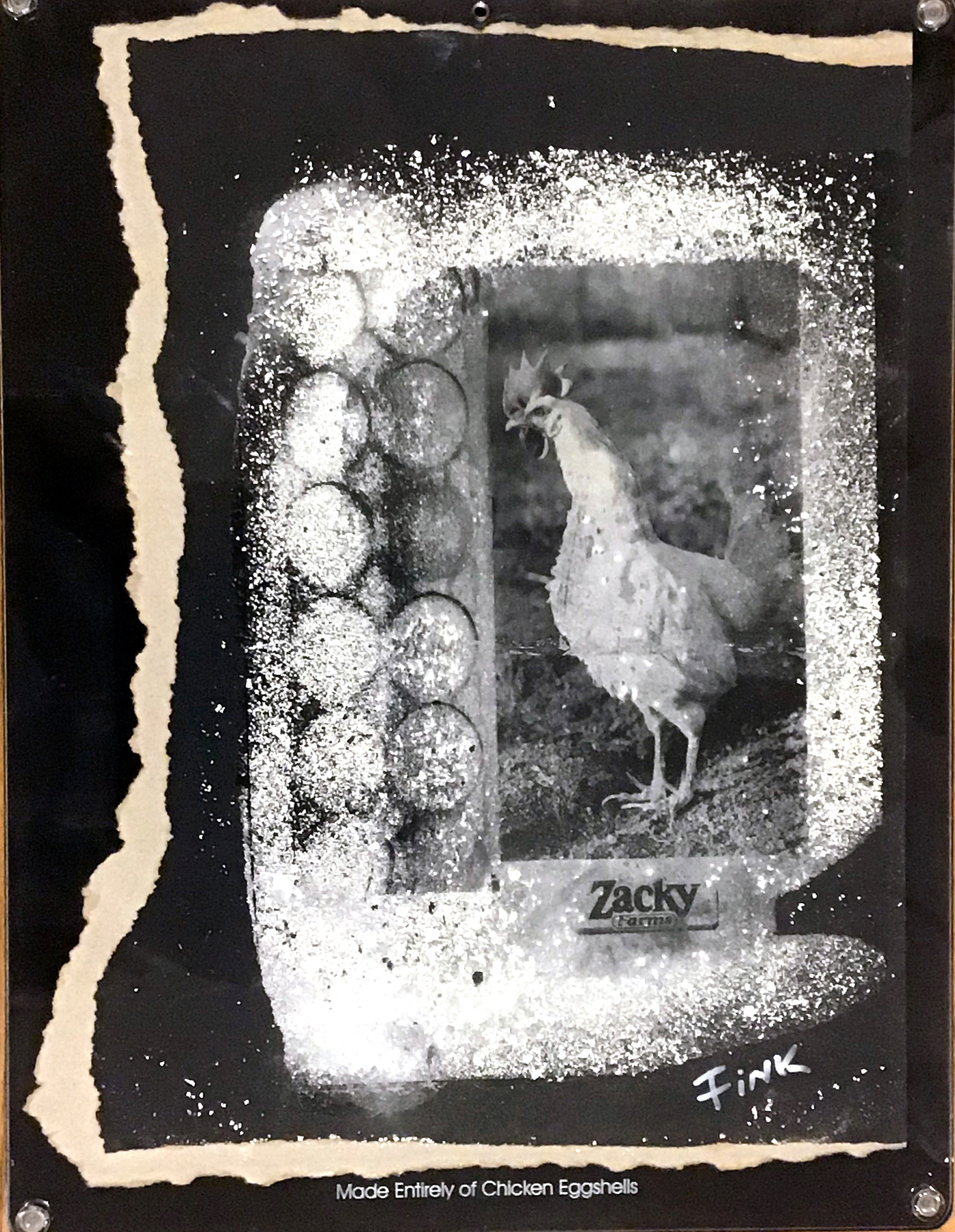 Picture made of Eggshells